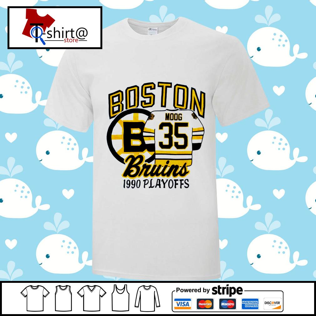 Boston Bruins 1990 playoffs shirt