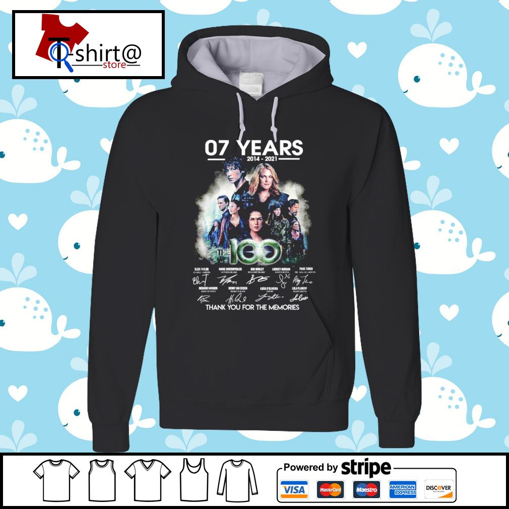 07 year 2014-2021 The 100 signature thank you for the memories hoodie