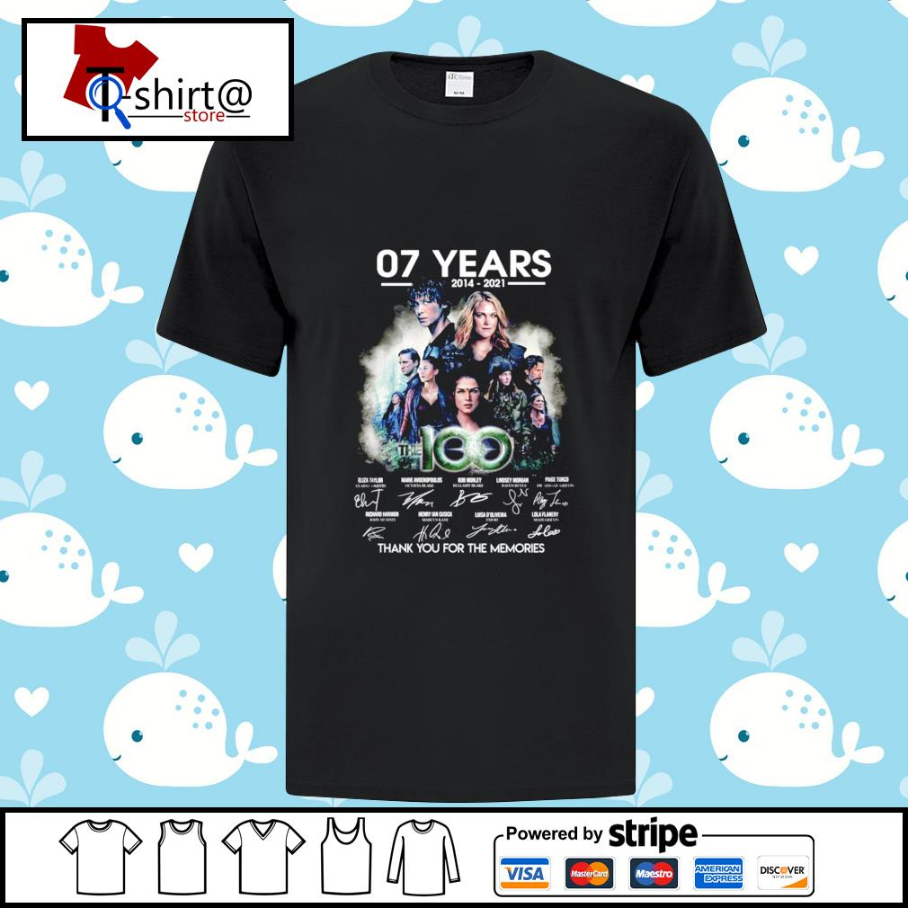 07 year 2014-2021 The 100 signature thank you for the memories shirt