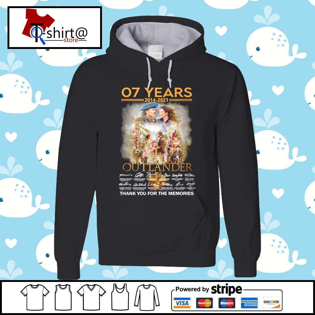 07 Years 2014-2021 Outlander signature thank you for the memories hoodie