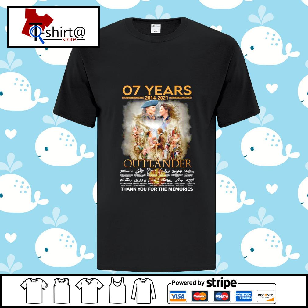 07 Years 2014-2021 Outlander signature thank you for the memories shirt
