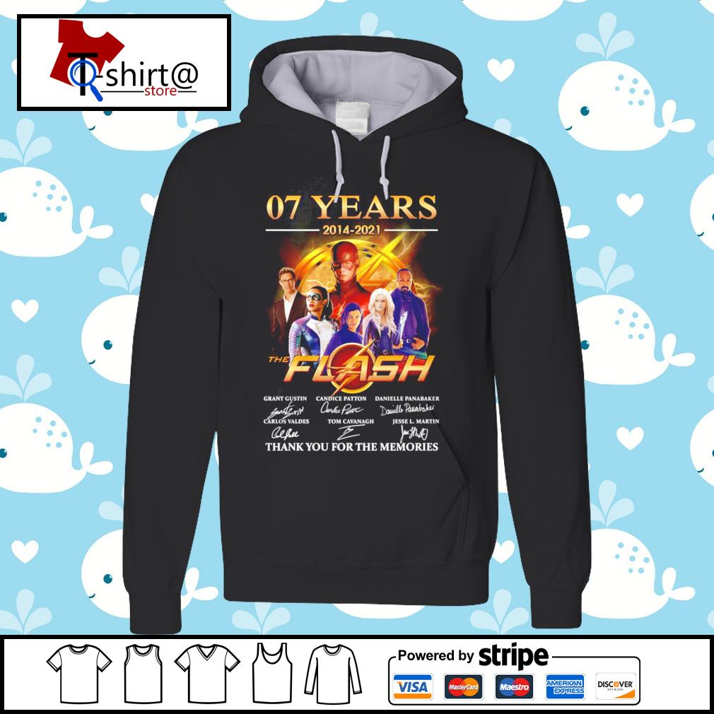 07 years 2014-2021 The flash signature thank you for the memories hoodie