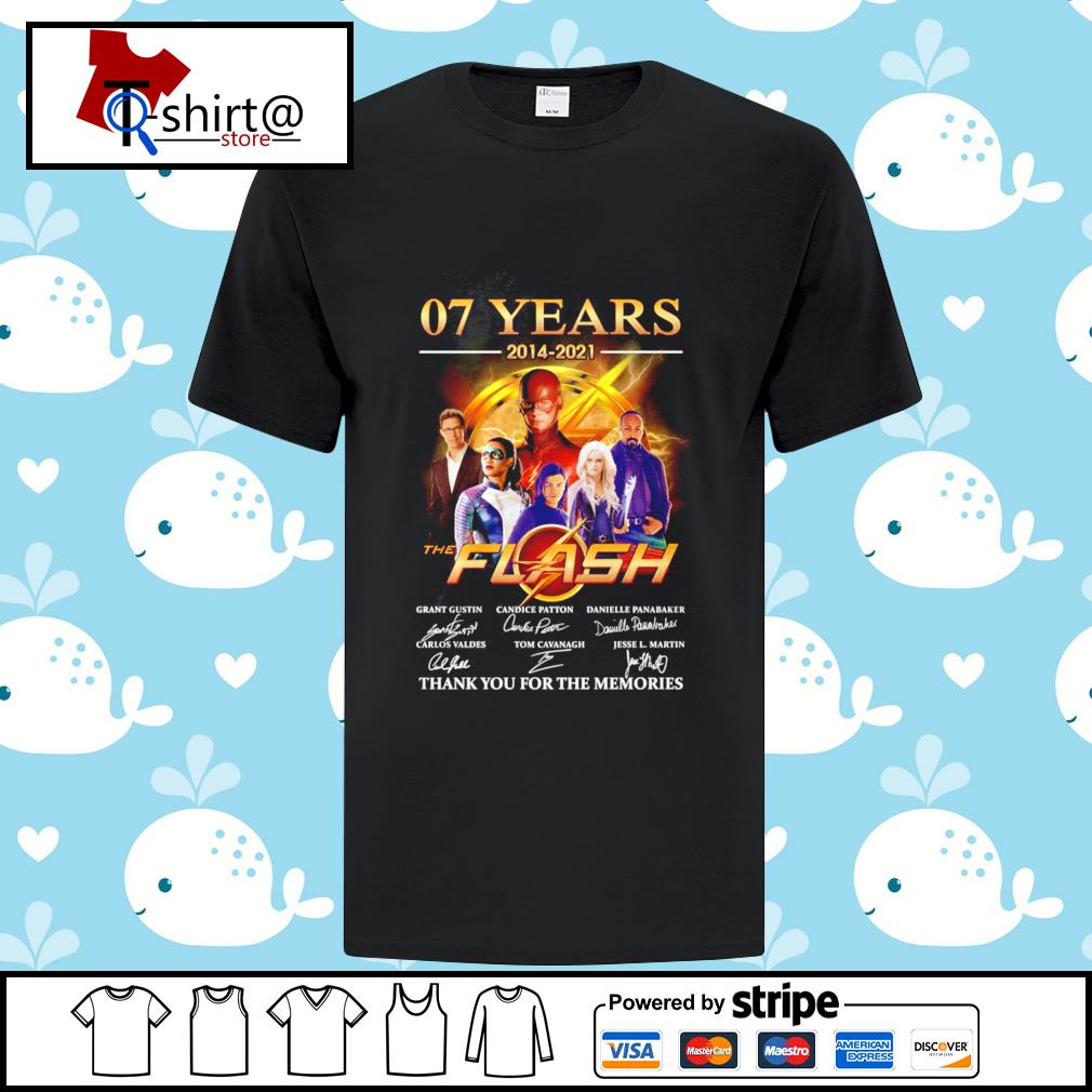 07 years 2014-2021 The flash signature thank you for the memories shirt