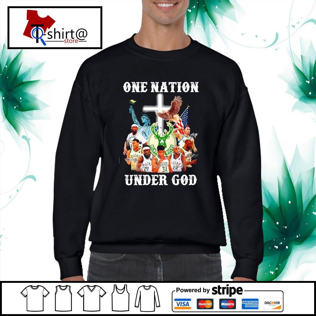 Milwaukee Bucks one nation under god shirt - T-shirt AT store
