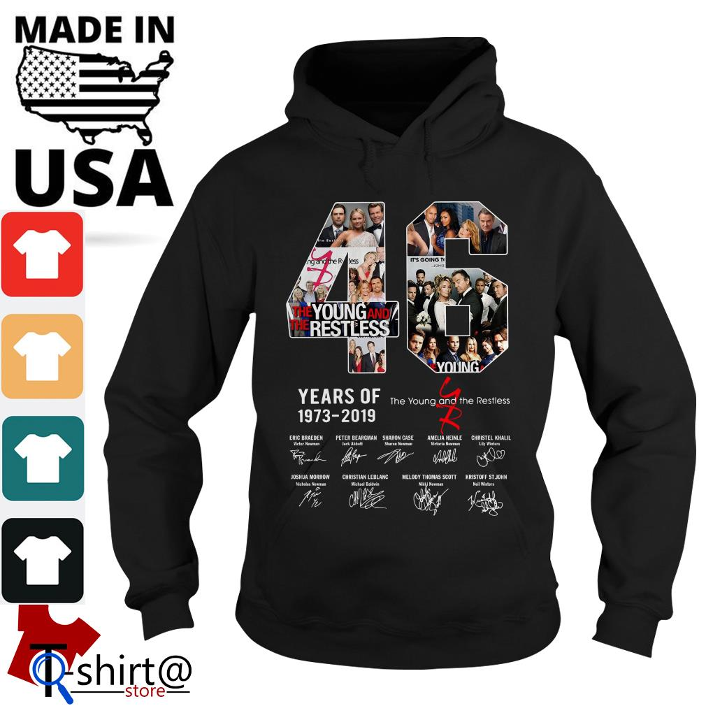 46 years of The Young and the restless 1973-2019 signature Hoodie