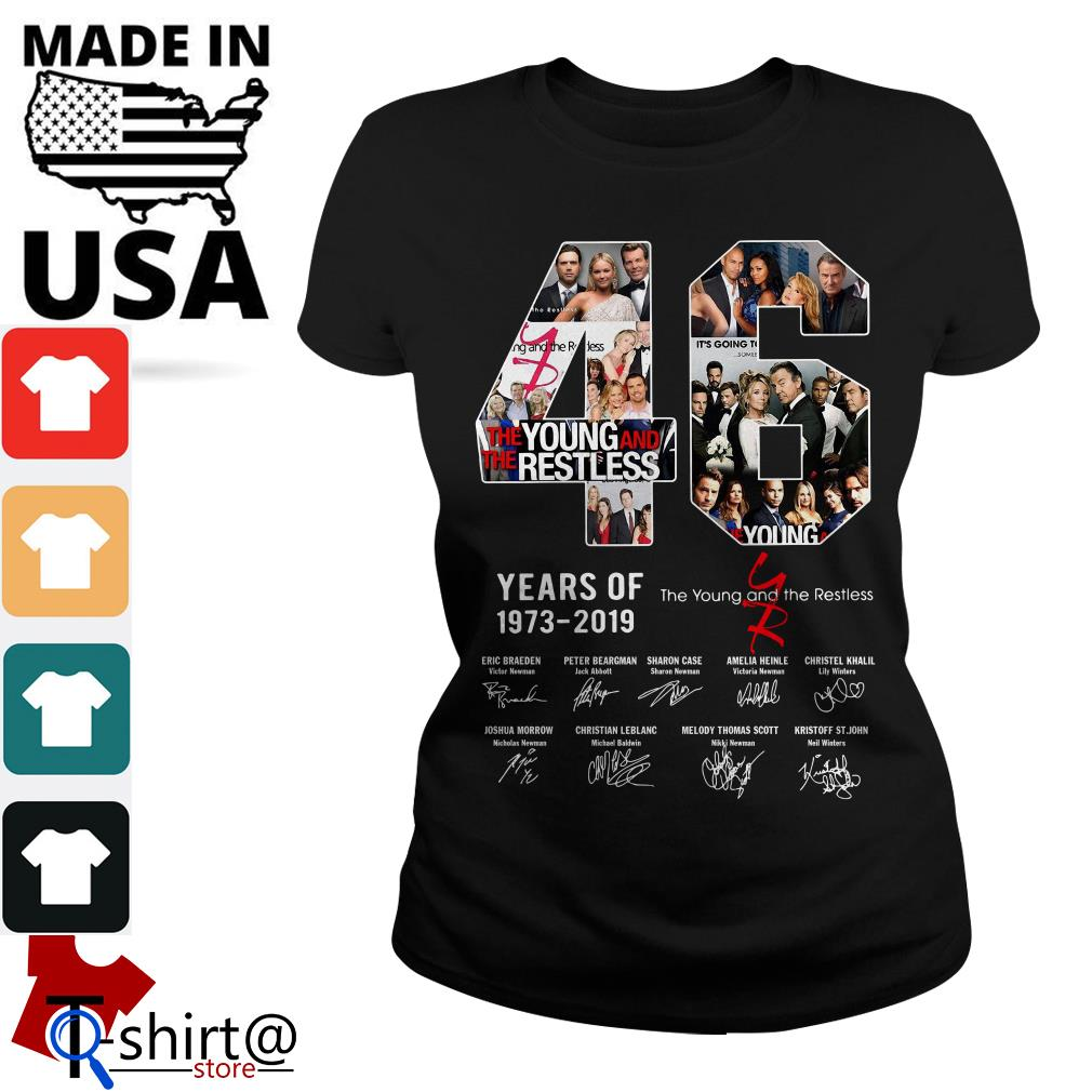 46 years of The Young and the restless 1973-2019 signature Ladies tee