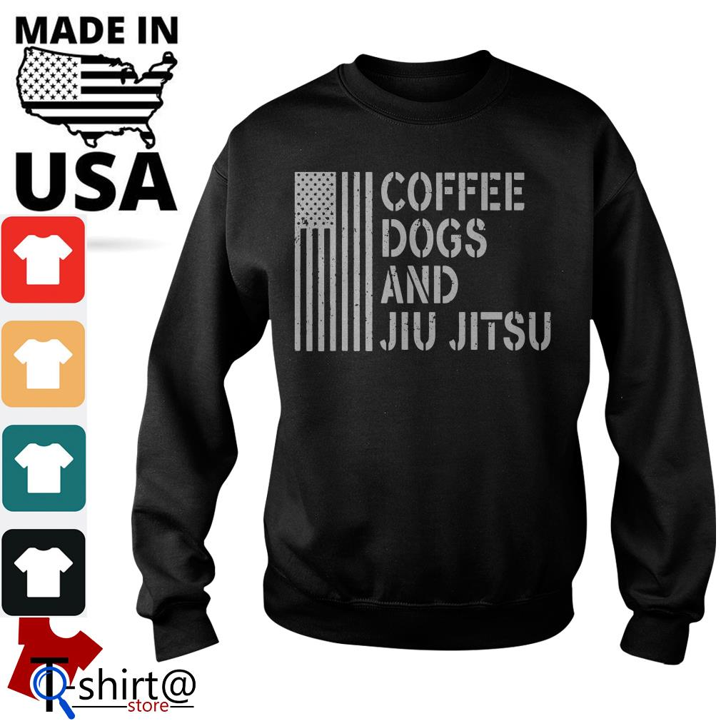 American flag coffee dogs and jiu jitsu Sweater