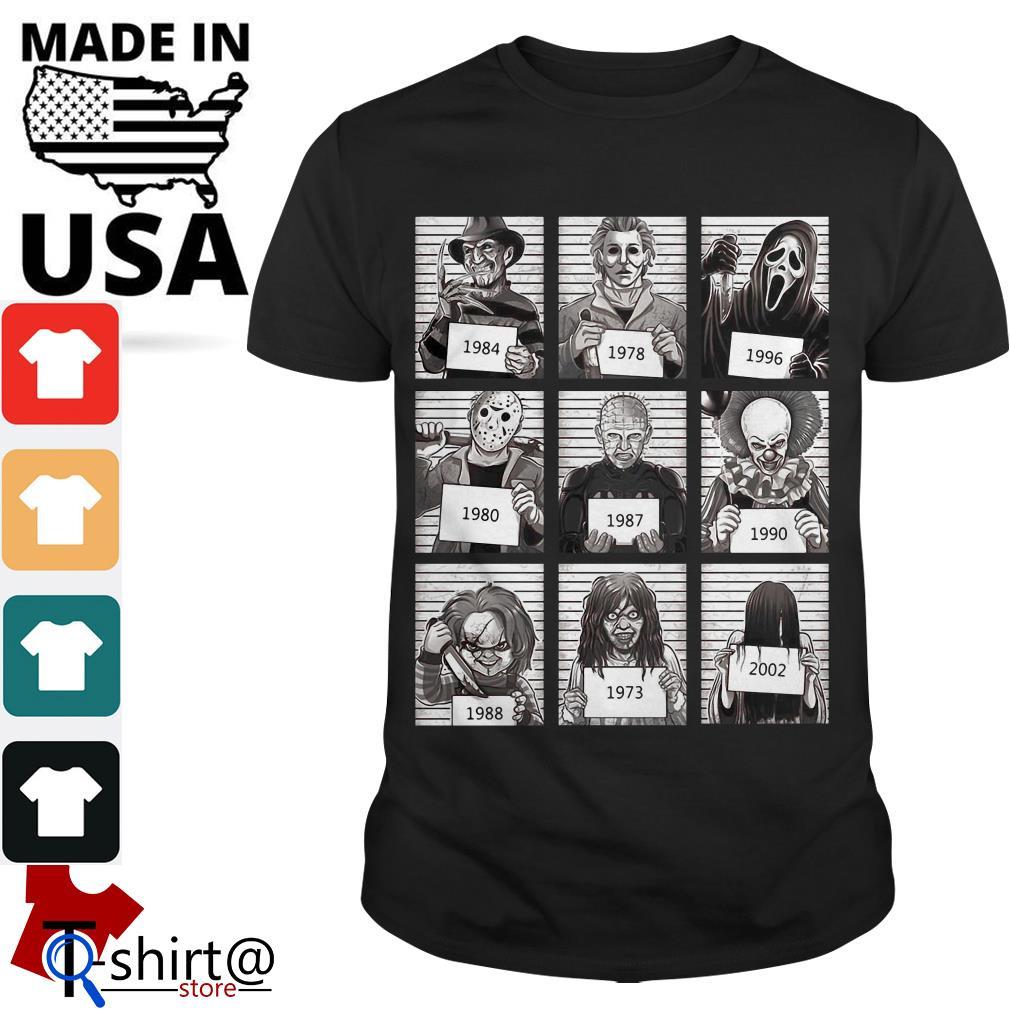 Character Horror Movies 1984 2002 shirt
