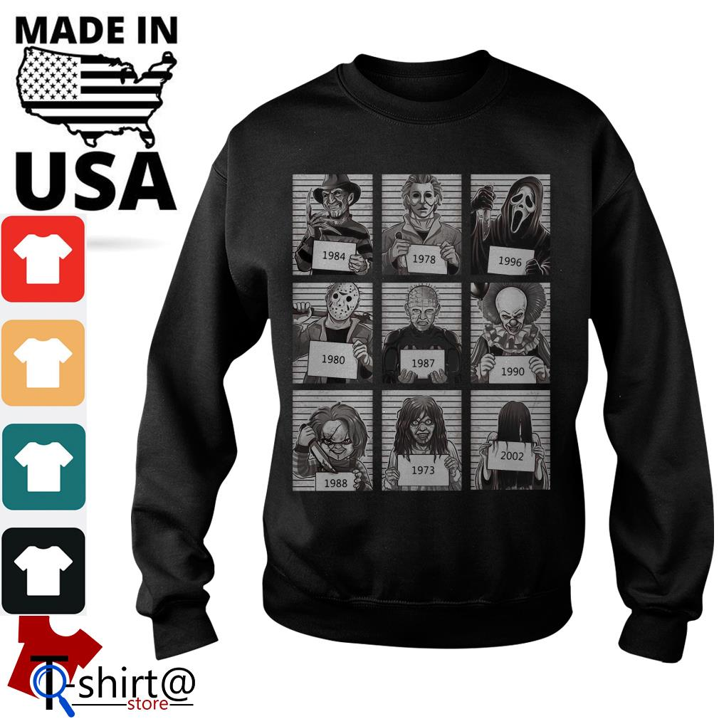 Character Horror Movies 1984 2002 Sweater