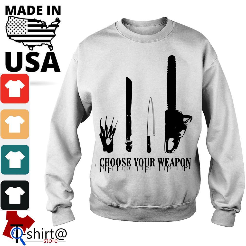 Choose your weapon Halloween Slasher Halloween Sweater