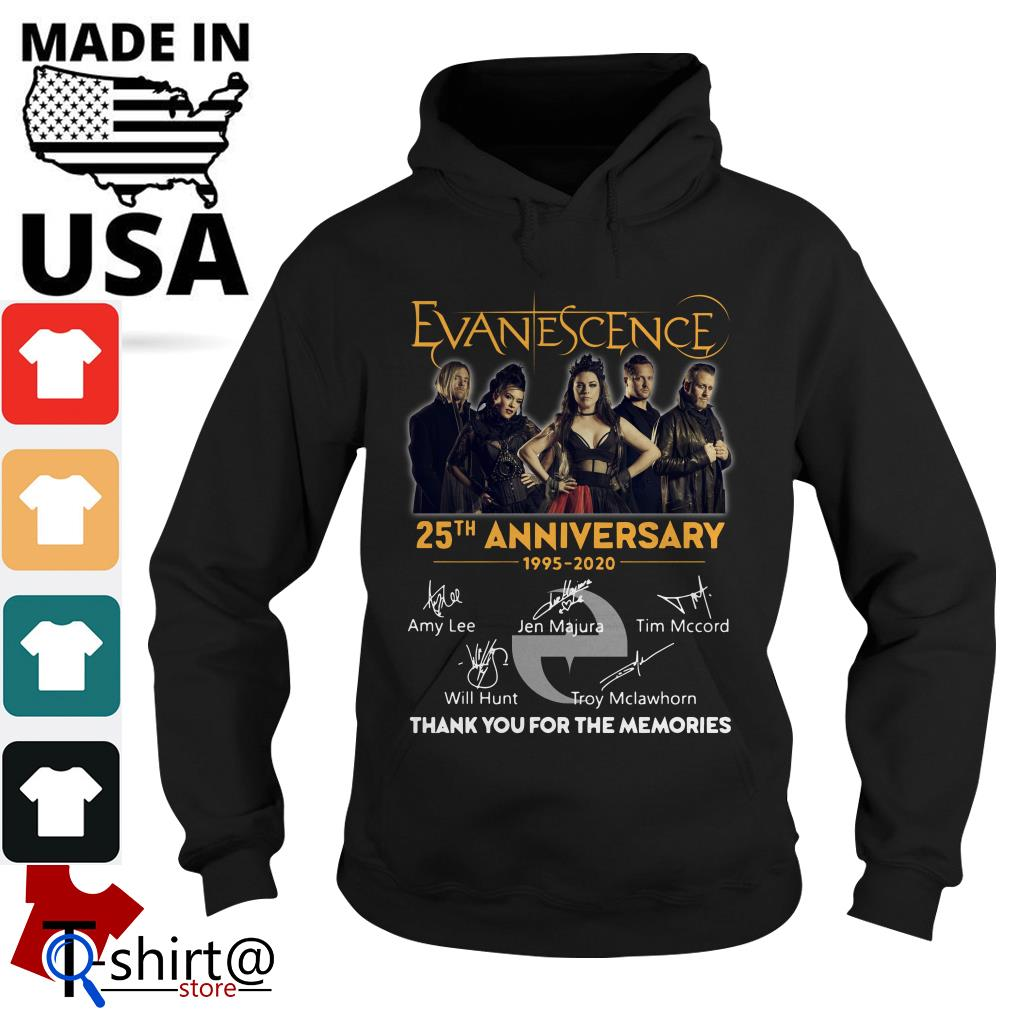 Evanescence 25th anniversary 1995-2020 thank you for the memories Hoode