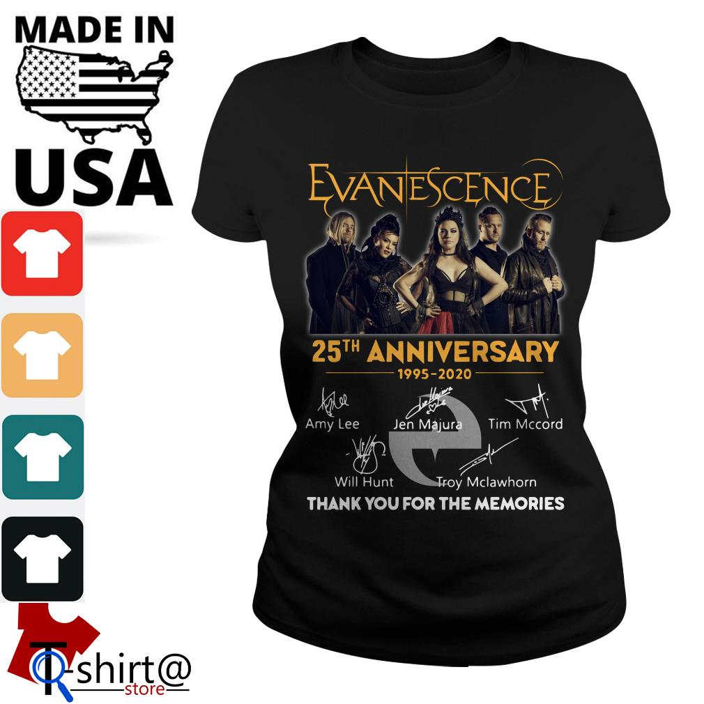Evanescence 25th anniversary 1995-2020 thank you for the memories Ladies tee