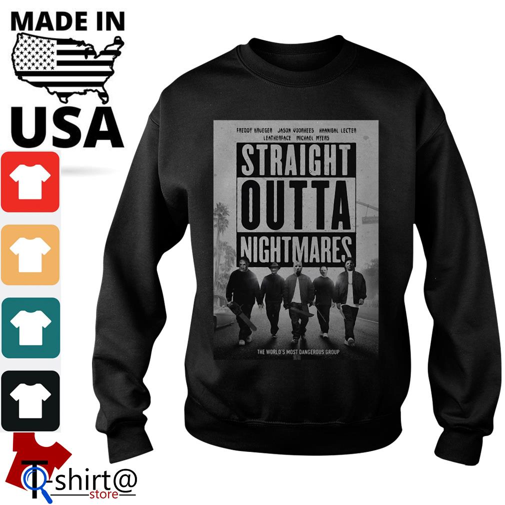 Freddy Krueger Jason Voorhees Leatherface Hannibal Lecter Michael Myers Straight Outta Nightmares Sweater