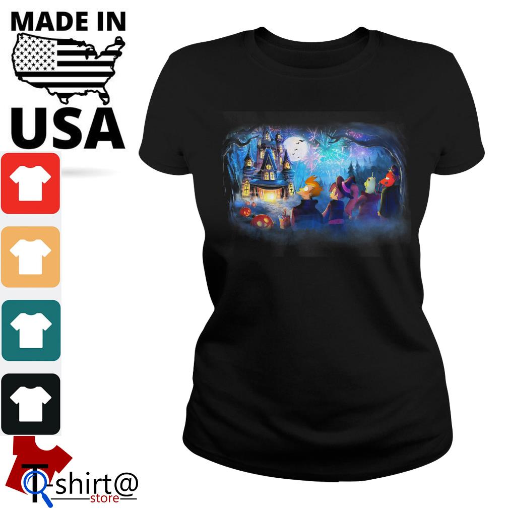 Futurama Not so scary Halloween fireworks party Ladies tee