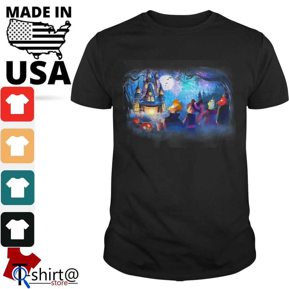 Futurama Not so scary Halloween fireworks party shirt