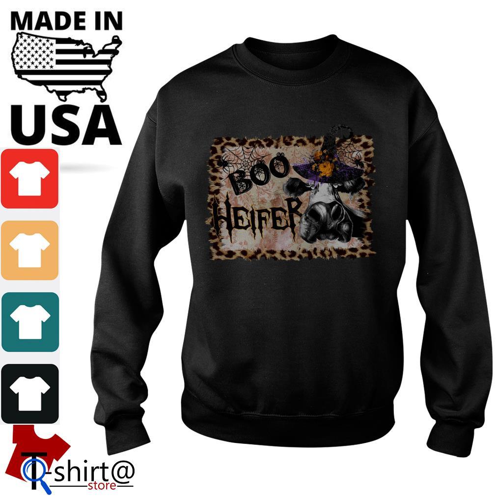 Halloween Cow Boo Heifer Sweater