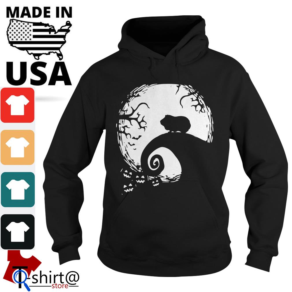 Halloween Guinea pig and moon Hoodie