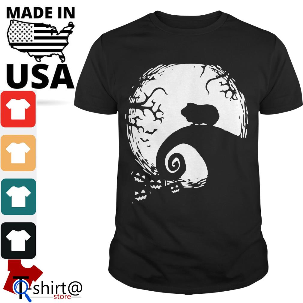 Halloween Guinea pig and moon shirt