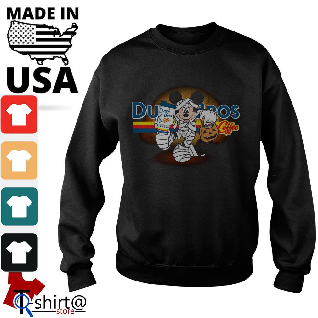 Halloween Mickey Mouse Wears Mummy Dutch Bros Coffee Sweater