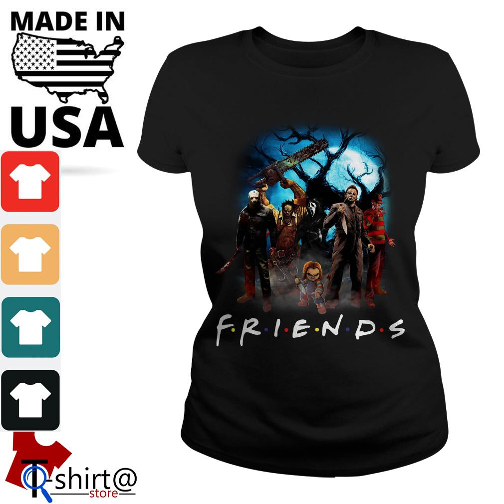 Horror character Friends TV show Ladies tee