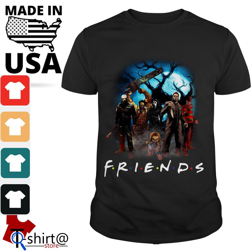 Horror character Friends TV show shirt