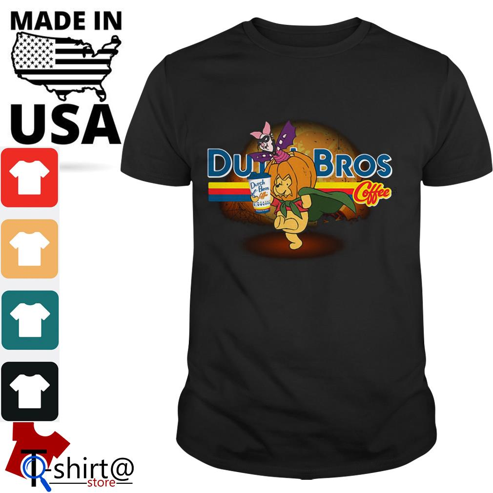 Halloween Piglet and Winnie The Pooh Dutch Bros Coffee shirt