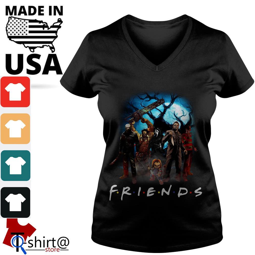 Horror character Friends TV show V-neck t-shirt