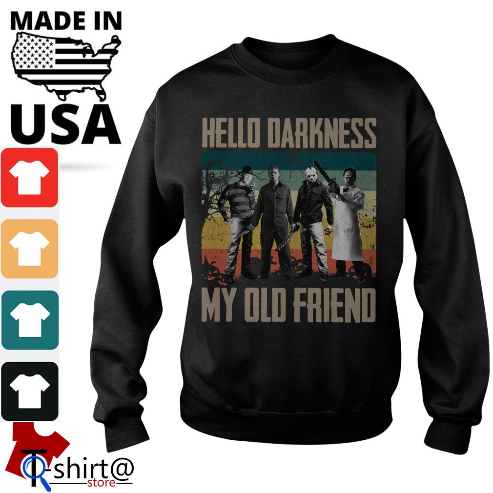 Horror characters hello darkness my old friend vintage Sweater