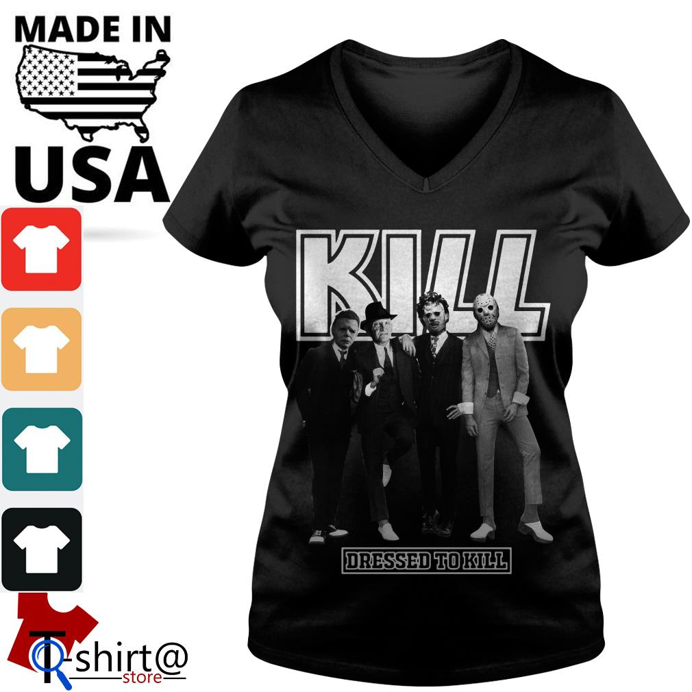 Horror character movie Kill dressed to kill V-neck t-shirt
