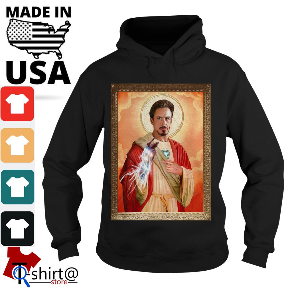Iron Man Patron Saint of Puppies Hoodie