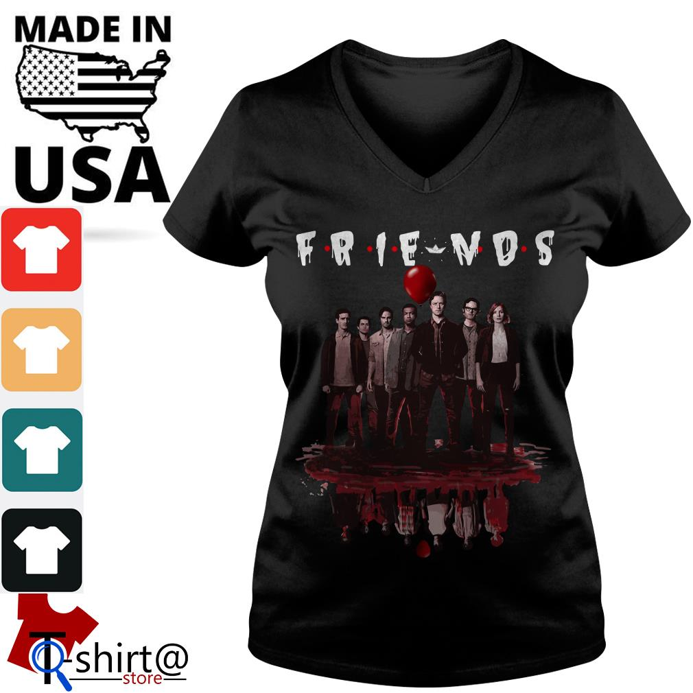 IT Chapter Two character reflection V-neck t-shirt