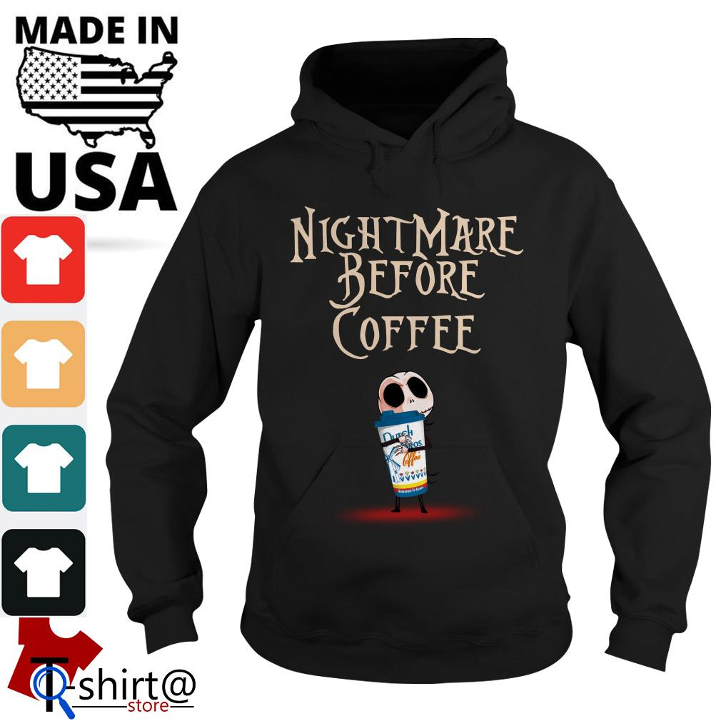 Jack Skellington Hug Dutch Bros Nightmare before Coffee Hoodie