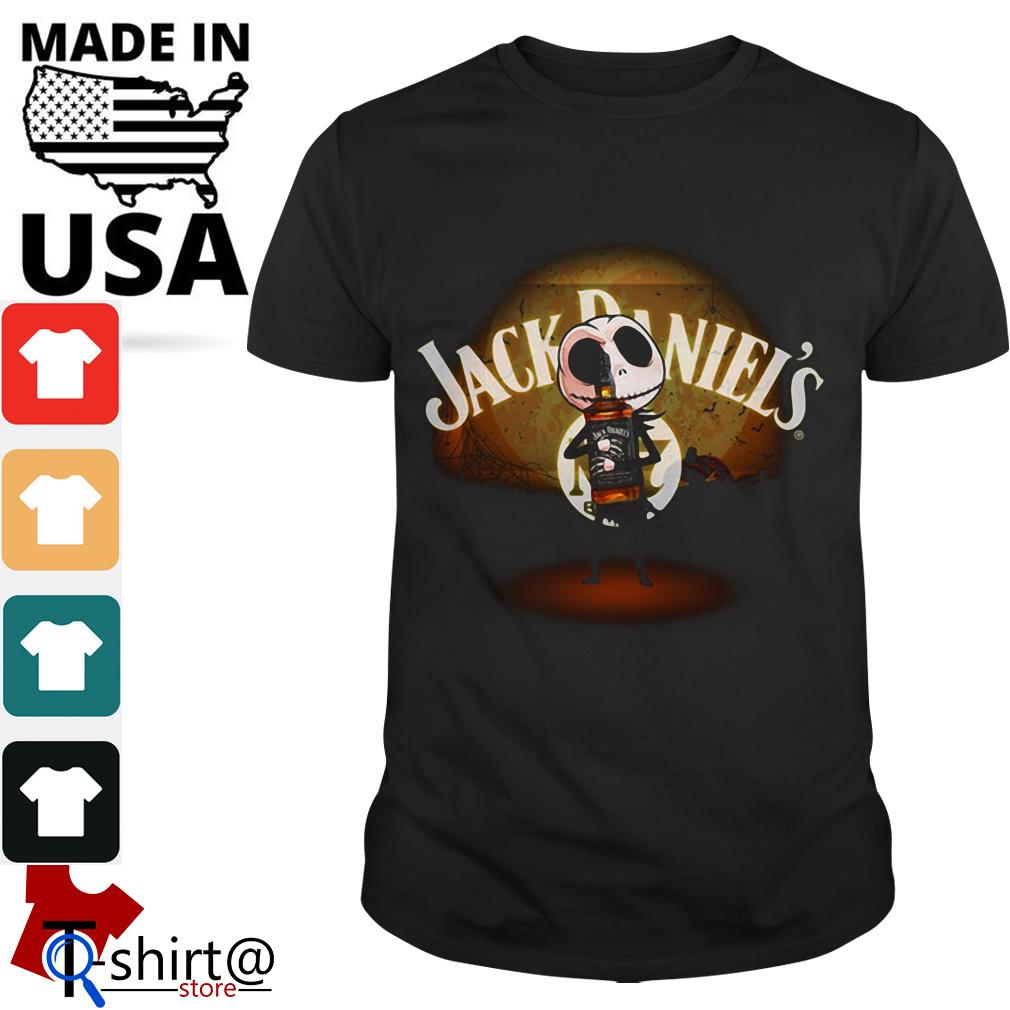 Jack Skellington hug Jack Daniel's Halloween shirt