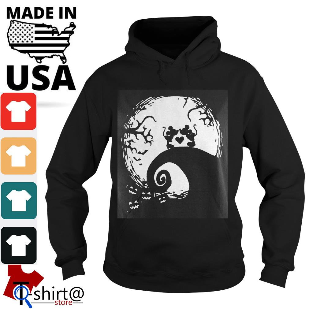 Mickey mouse and Minnie mouse in the midnight moon Halloween Hoodie