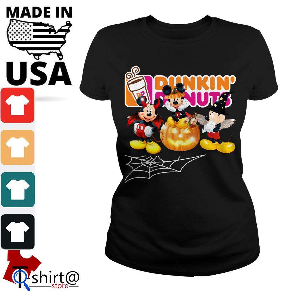 Mouse Mickey Dunkin' Donuts Halloween Ladies tee