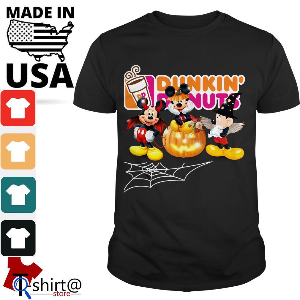 Mouse Mickey Dunkin' Donuts Halloween shirt