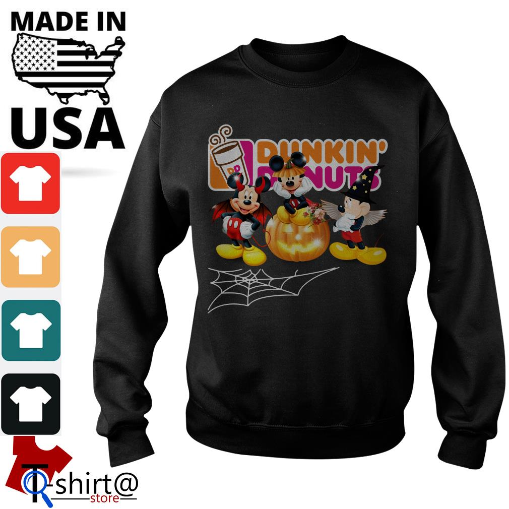 Mouse Mickey Dunkin' Donuts Halloween Sweater
