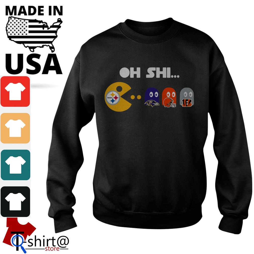 Oh shi Philadelphia Steelers Cleveland Browns Sweater