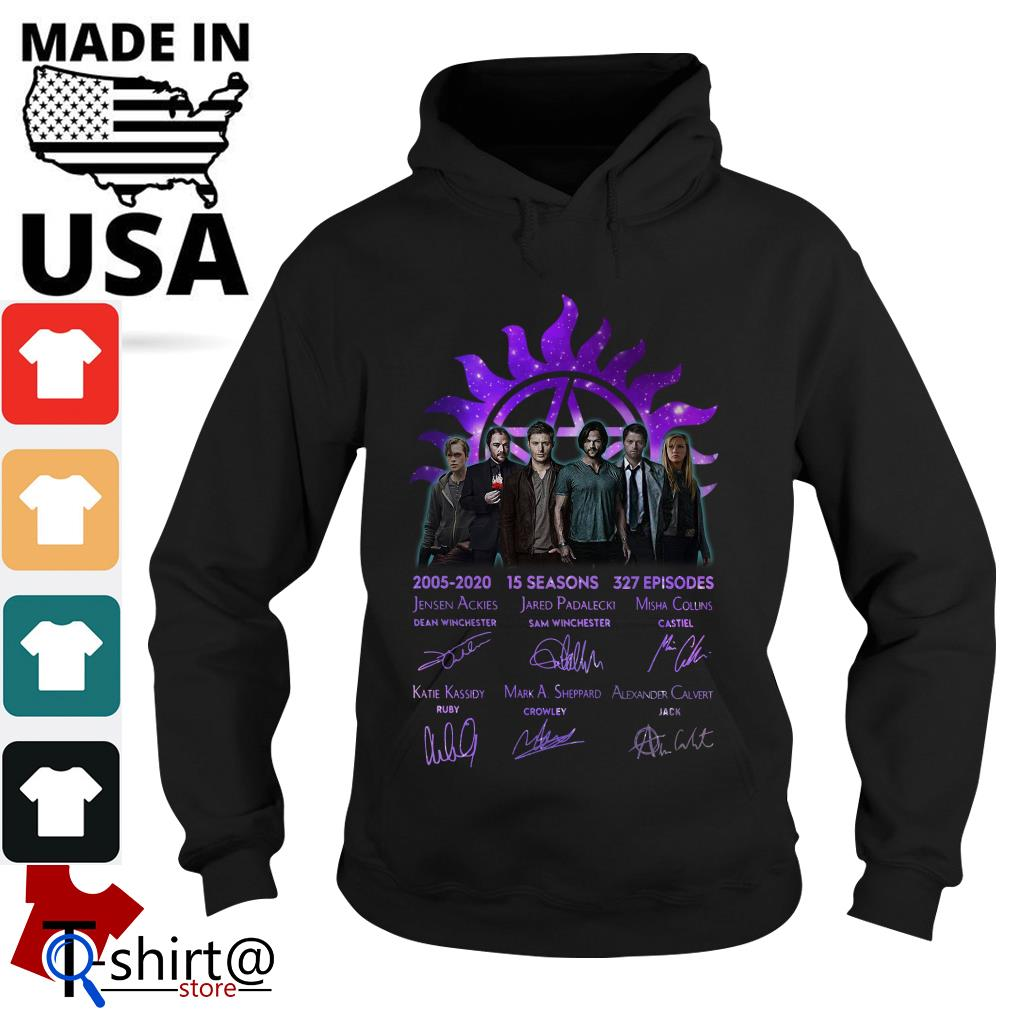 Supernatural 2005 2020 15 seasons 327 episodes signature Hoodie