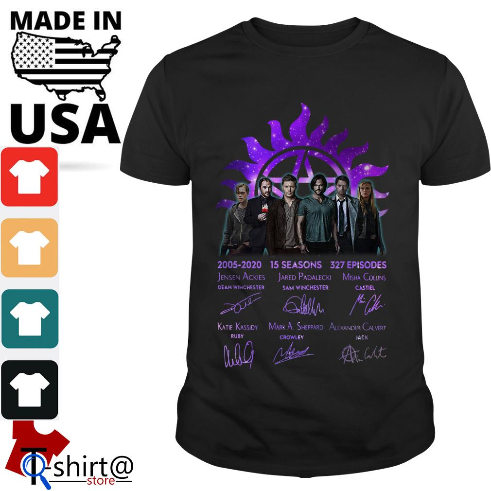 Supernatural 2005 2020 15 seasons 327 episodes signature shirt