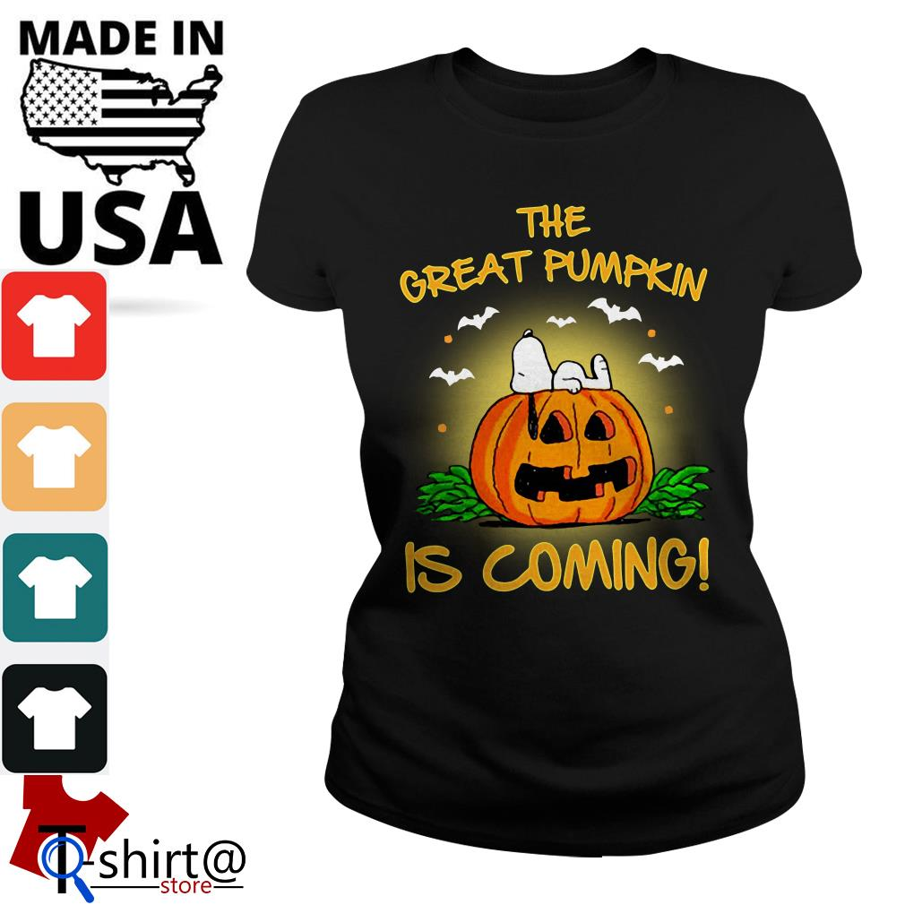 The Great Pumpkin is coming Ladies tee