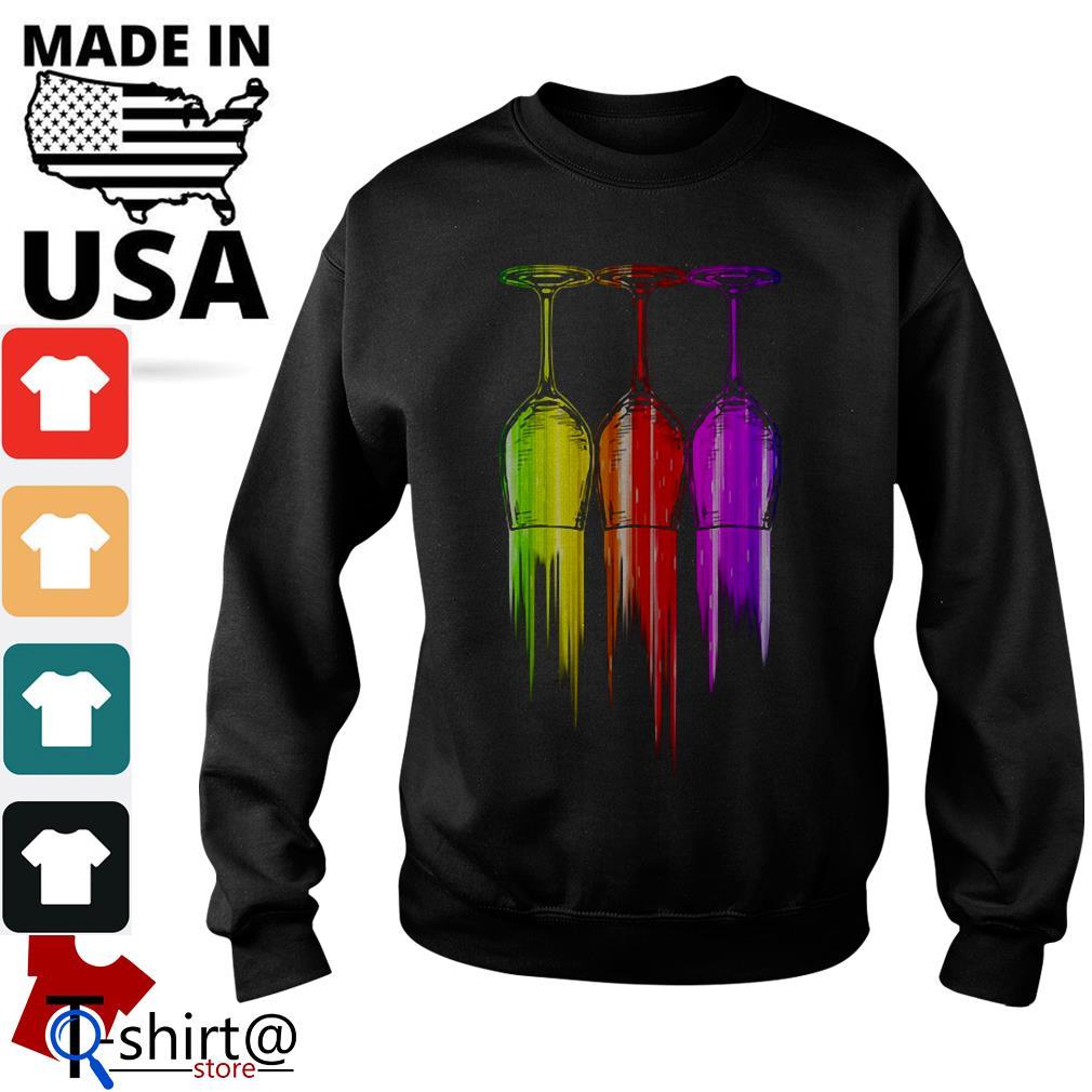 Three wine color Halloween Sweater