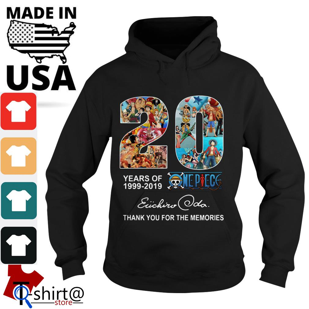 20 years of One Piece 1999 – 2019 thank you for the memories Oda Eiichiro Hoodie