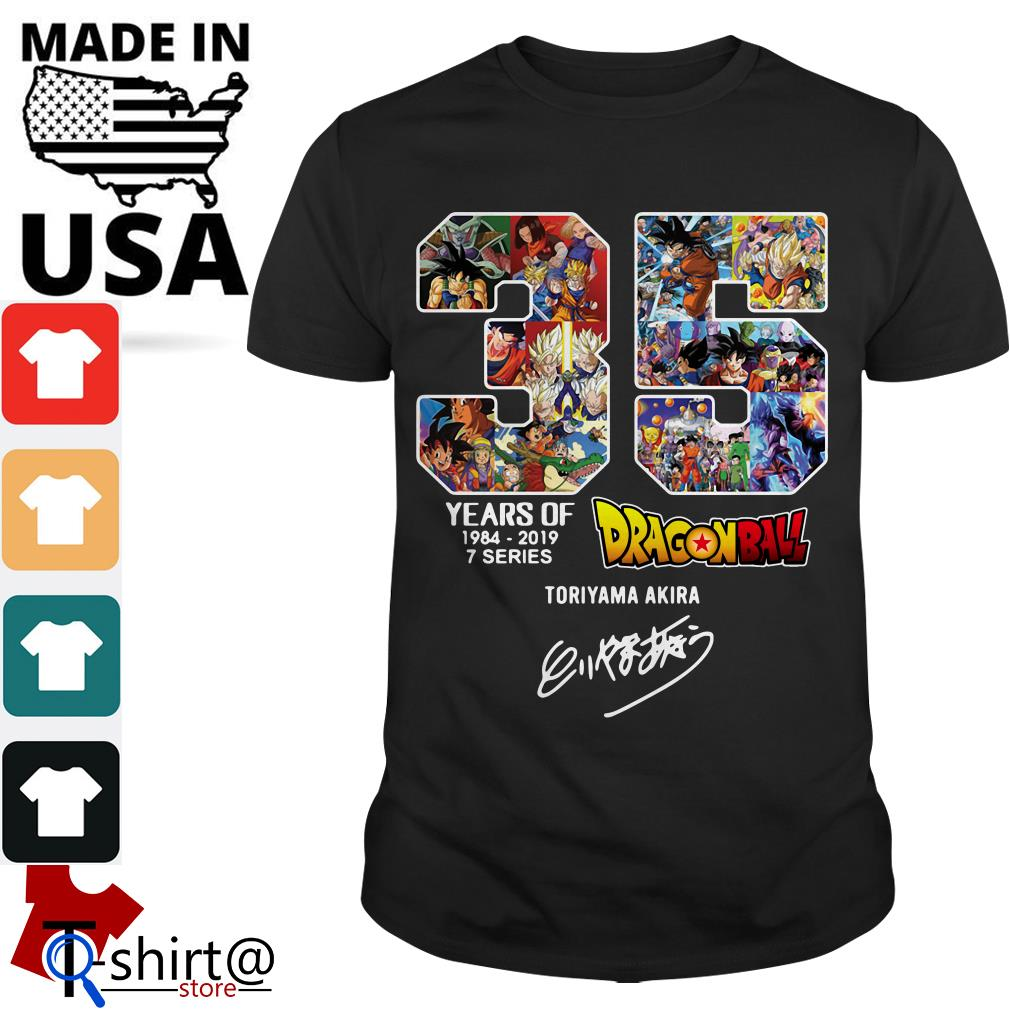 35 years of Dragon Ball 1984-2019 7 series signature shirt