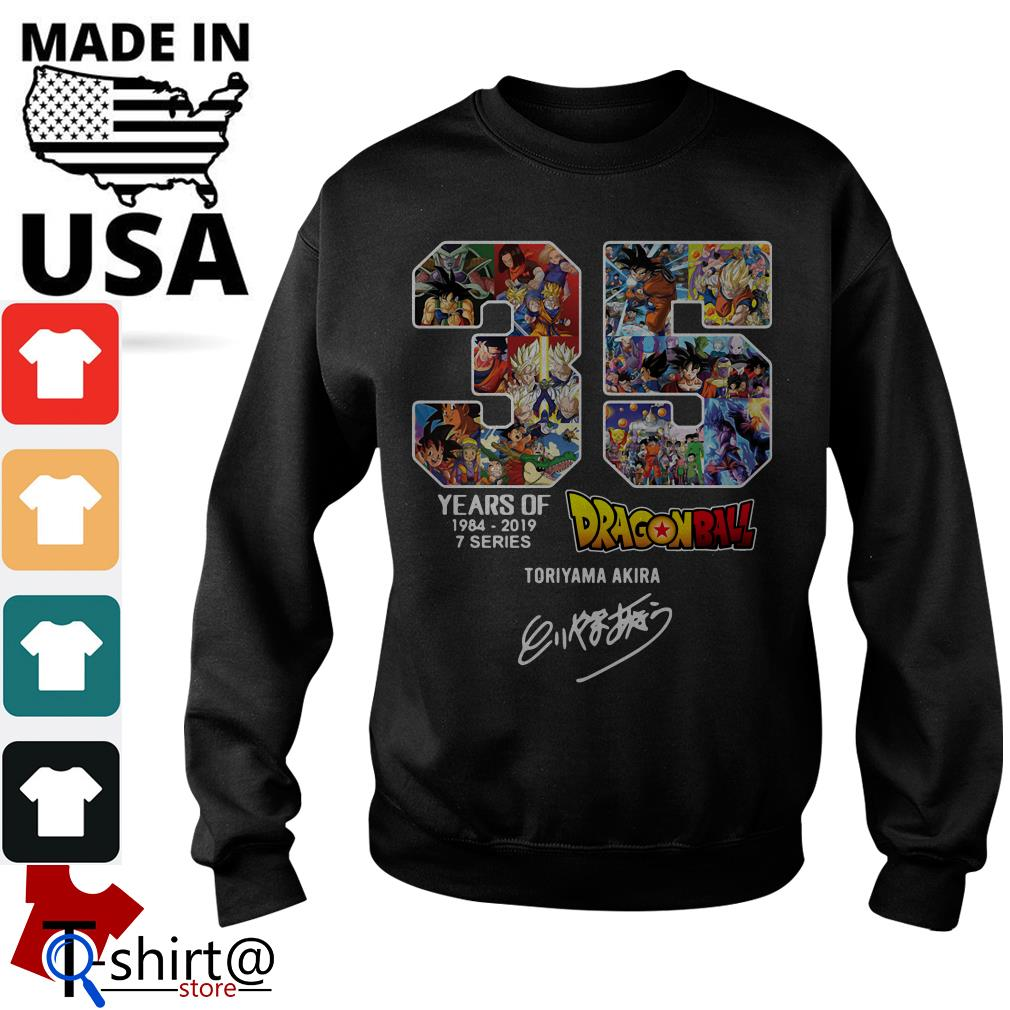 35 years of Dragon Ball 1984-2019 7 series signature Sweater