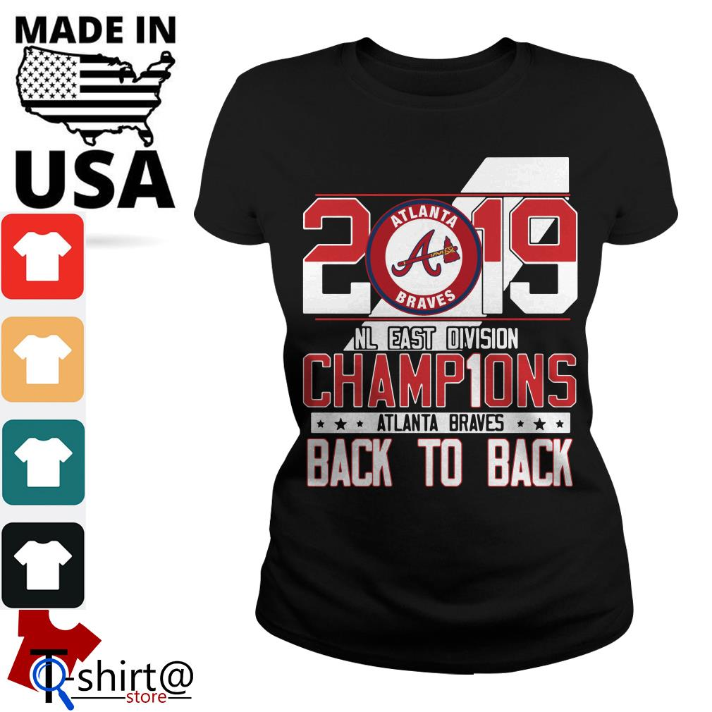 low priced 0f840 a8132 Atlanta Braves 2019 NL East division champions signature shirt