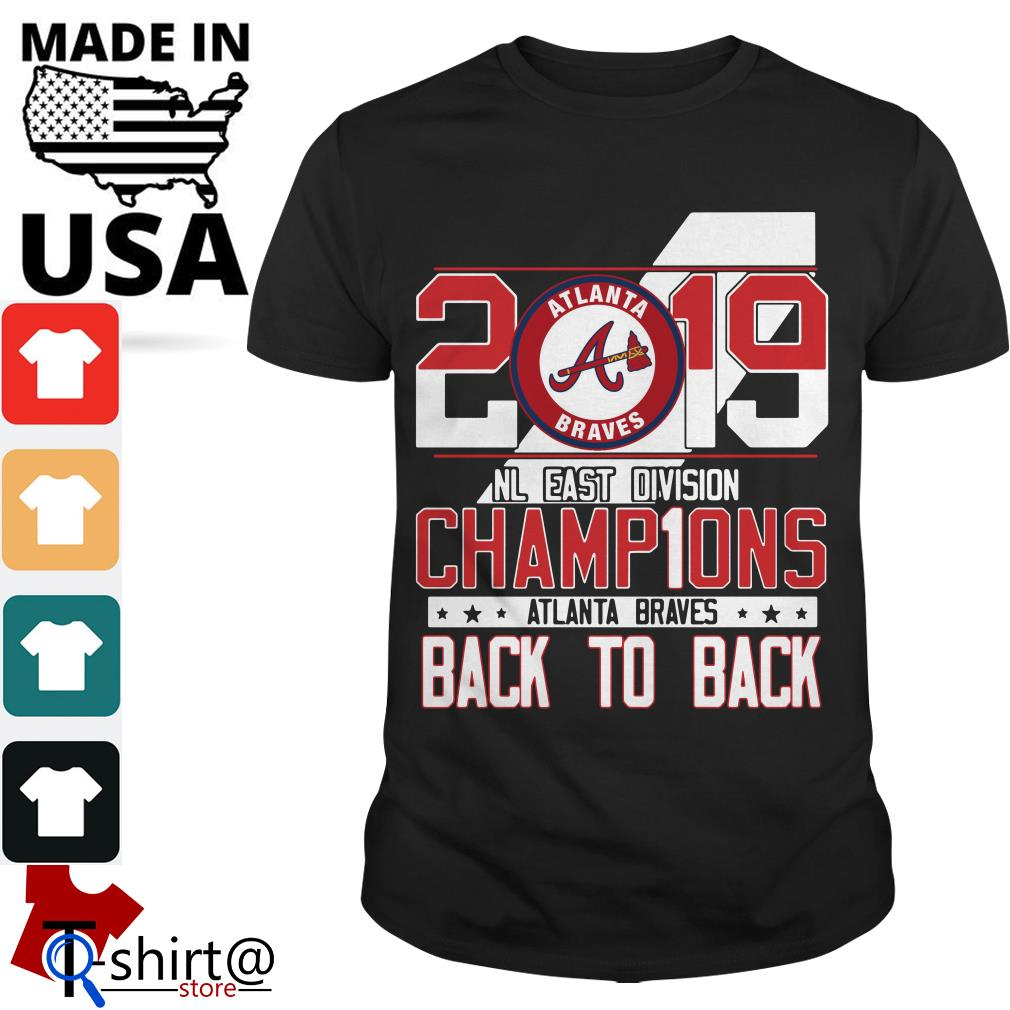 low priced 9ee03 779ee Atlanta Braves 2019 NL East division champions signature shirt