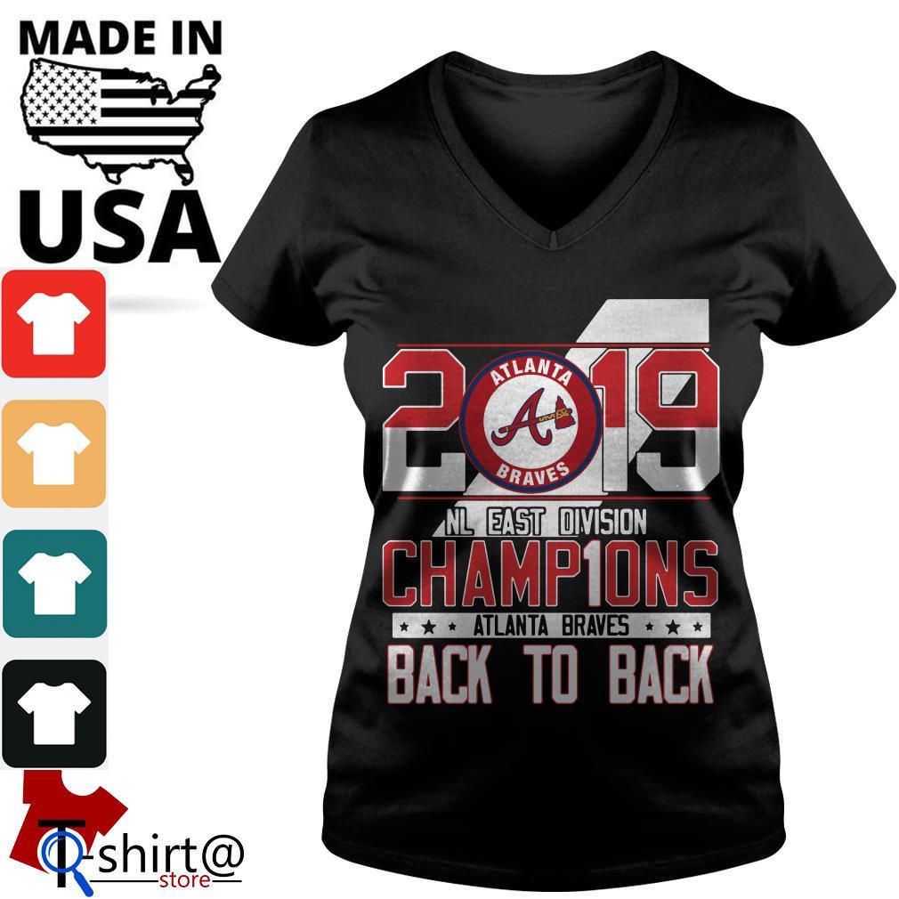low priced 9d8fc 92e40 Atlanta Braves 2019 NL East division champions signature shirt