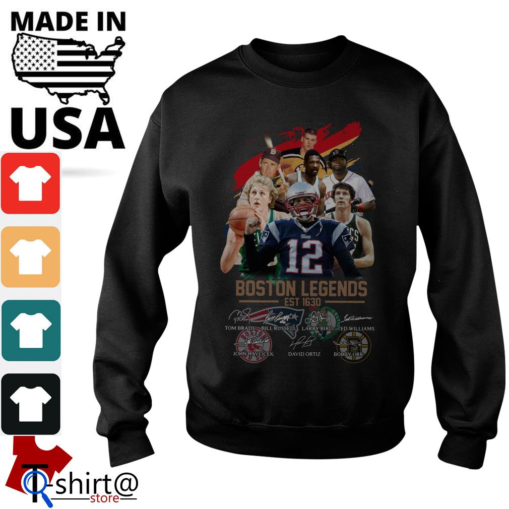 Boston Legends est 1630 signature Sweater