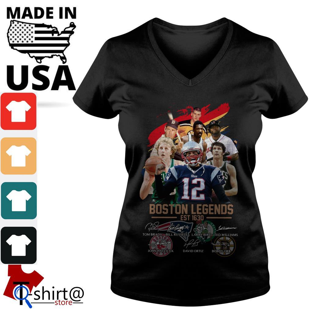 Boston Legends est 1630 signature V-neck t-shirt
